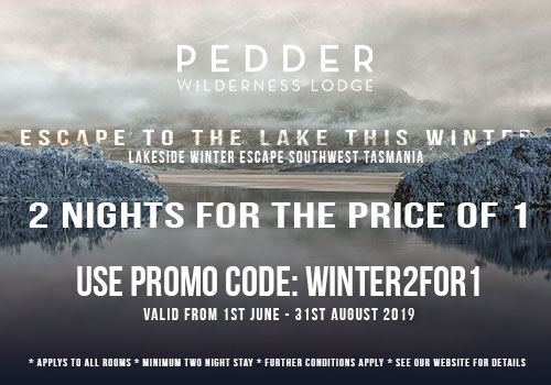 Pedder Wilderness Lodge Winter 2 for 1